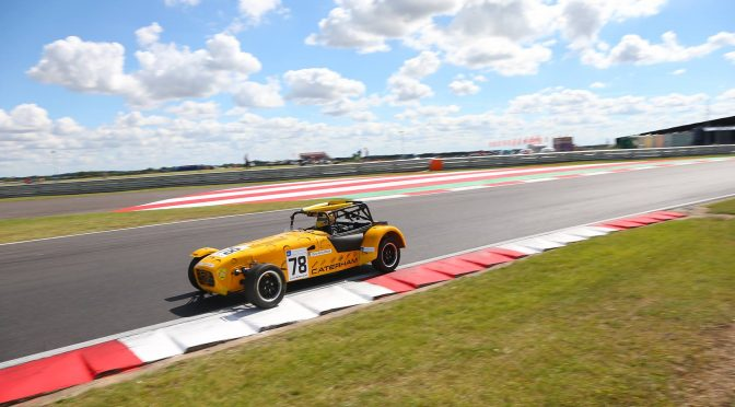 Feeling the slide at Snetterton